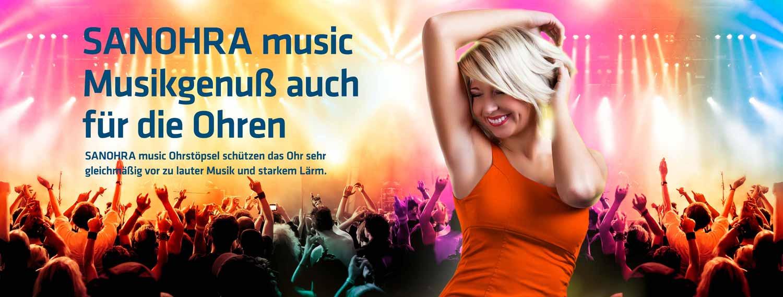 Sanohra music Ohrstöpsel für Konzerte