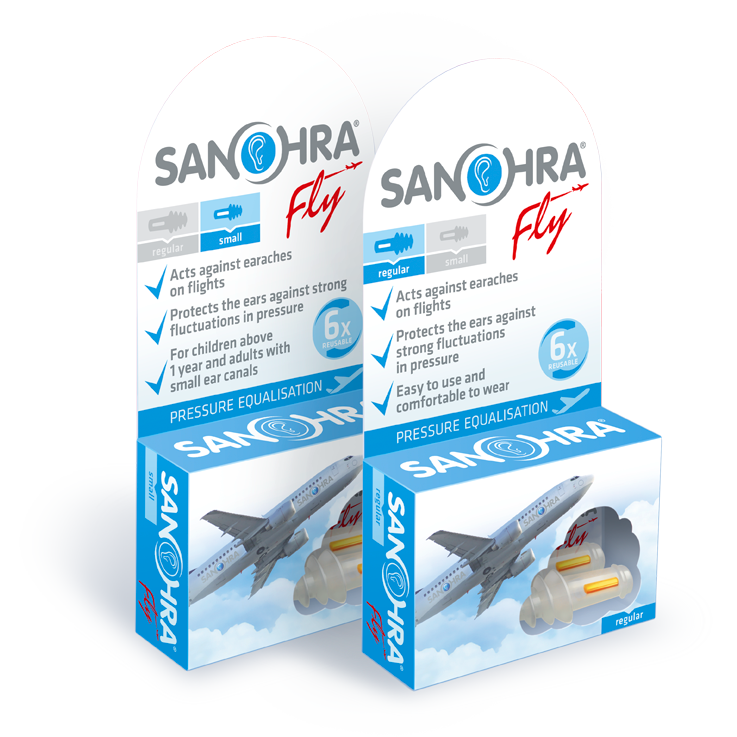 sanohra fly - pressure equalizing earplugs